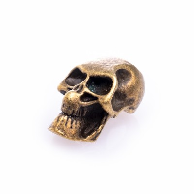 Beard Bead Grin Skull Bronze