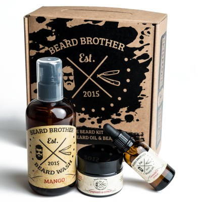 Beard Brother Complete Beard Kit Orange & Red Chili