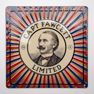 Captain Fawcett Tin Plate Sign