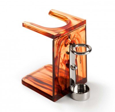 Mondial Drip Stand with Razor Support, Tortoise Shell