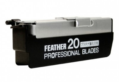 Feather Professional Straight Razor Blades 20-p