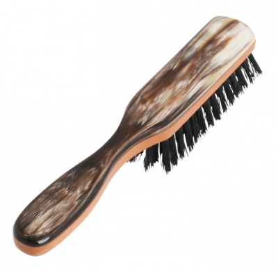Hermod Beard Brush with Handle Horn Decor