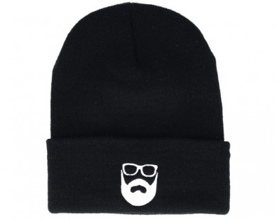 Bearded Man Apparel Logo Black Beanie