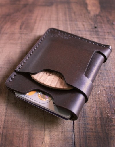 Big Red Beard Minimalist Wallet