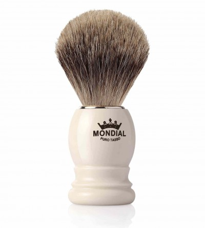 Mondial Basic Shaving Brush Fine Badger, Ivory