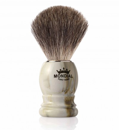 Mondial Basic Shaving Brush Grey Badger, Clear Marble