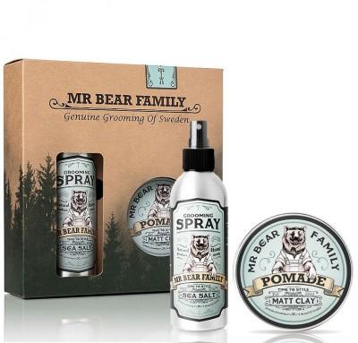 Mr Bear Family Kit Grooming Spray & Matt Clay Springwood