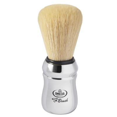 Omega S-Brush Chrome Synthetic Shaving Brush