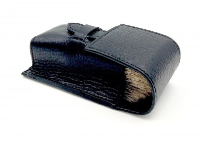 Parker Leather Brush Case