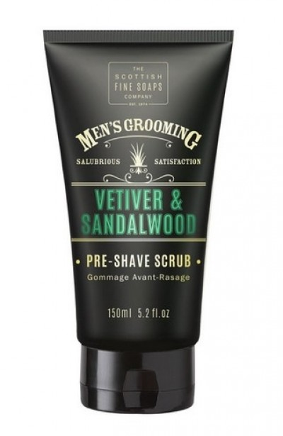 The Scottish Fine Soaps Vetiver & Sandalwood Pre Shave Scrub