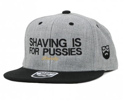 Bearded Man Apparel Shaving Grey/Black Snapback