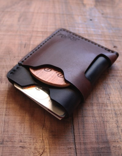 Big Red Beard Minimalist Wallet - Black Sunset