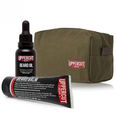 Uppercut Deluxe Beard Kit with Wash Bag