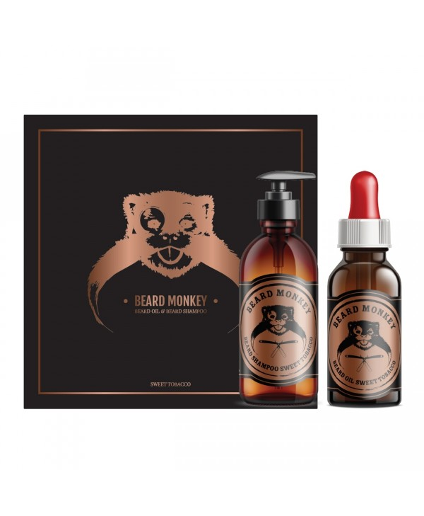 Beard Monkey  Beard Care Christmas Kit Sweet Tobacco