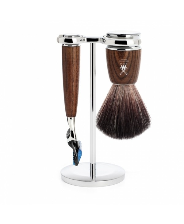 Mühle Rytmo Shaving Set Fusion + Brush, Ash