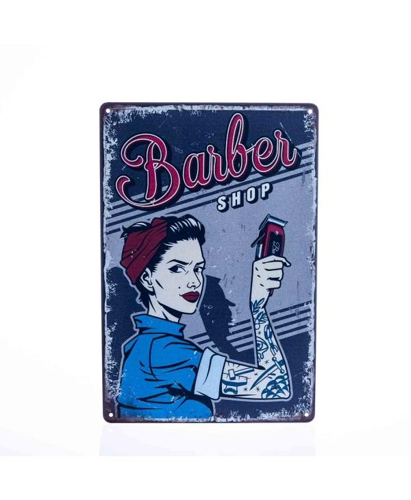 Barber Vintage Metal Sign #8
