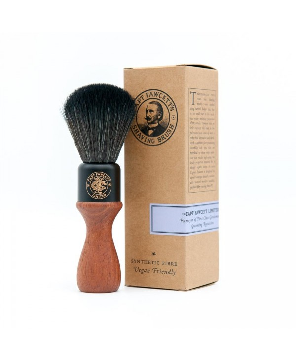 Captain Fawcett Syntethic Fibre Shaving Brush Wooden Handle