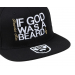 Bearded Man Apparel If God Was A Beard Black Snapback
