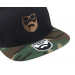 Bearded Man Apparel Logo Black Camo Snapback