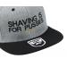 Bearded Man Apparel Shaving Grey/Black Snapback