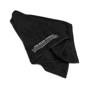 Mr Bear Family Barber Towel Black
