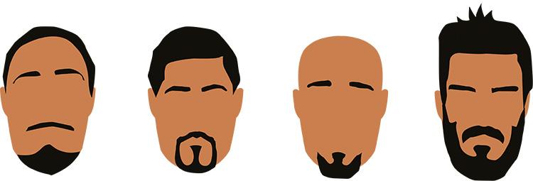 skäggfrisyr fyrkantigt ansikte