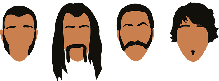 skäggfrisyr triangelformat ansikte